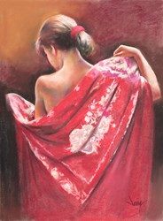 Manton Rojo by Domingo - Original Drawing, Paper on Board sized 18x24 inches. Available from Whitewall Galleries